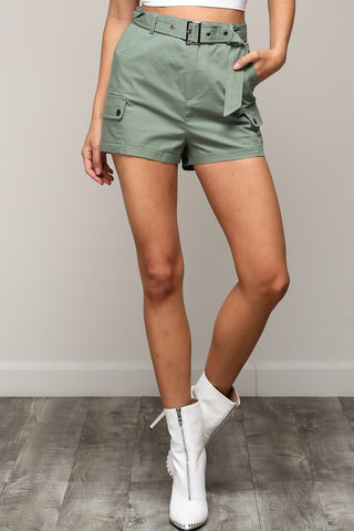 Fashion Olive Cargo Shorts