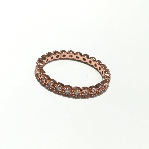 Elegant Rose Gold Rhinestone Ring