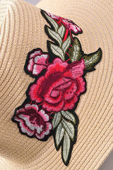 Summer Embroidered Straw Hat