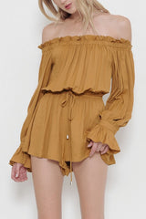 Fashion Honey Off Shoulder Romper