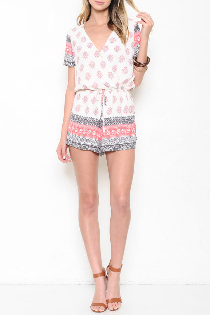 Casual Summer Multi-Color Print Romper