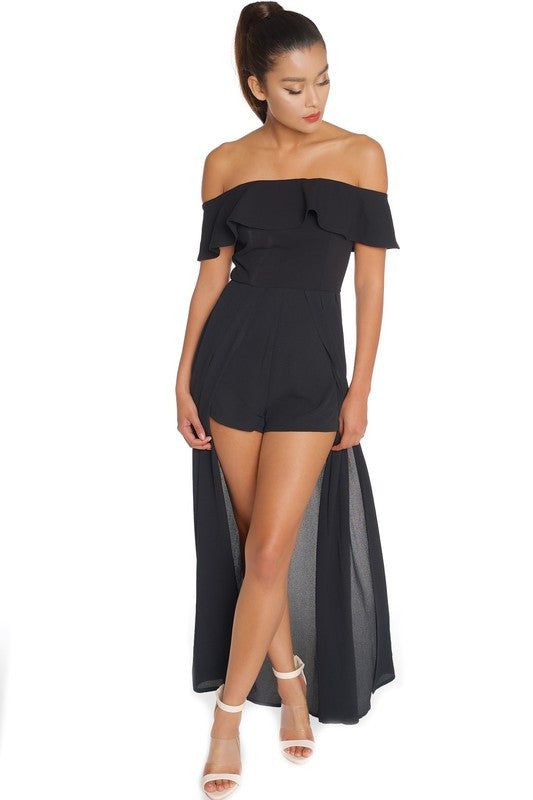 76ffda01ae43f Elegant Off Shoulder Black Maxi Romper – EDITE MODE