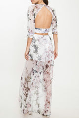 Elegant Floral Summer Cut Out Pants