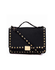 Messenger Clutch Black Gold