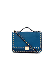 Messenger Clutch Blue Gold
