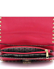 Messenger Clutch Red Gold
