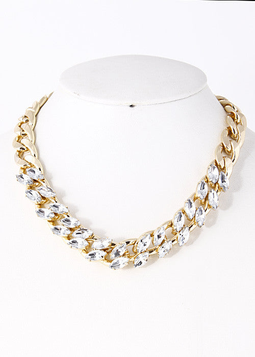Elegant Braided Chain Necklace