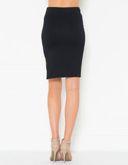 Pencil Side Open Skirt