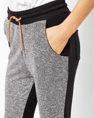 Casual Sport pants with contrast color patchwork