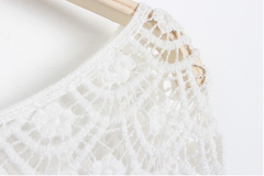Handmade Crochet  Lace Collar Top