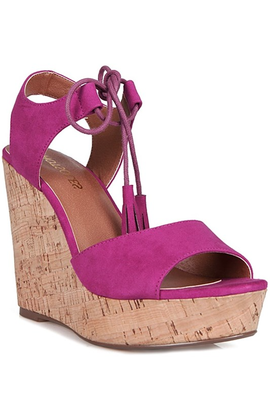 Summer Elegant Fuchsia Wedge with Tassel