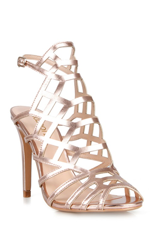 Elegant Geometric Rose Gold Heels