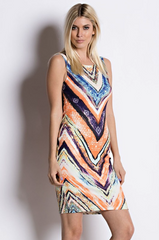 Geometric Colorful Summer Dress