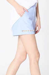 Tailor High Waisted Pearl Blue Short