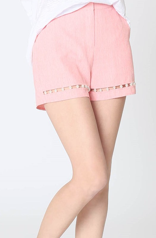 Tailor High Waisted Pearl Coral Short