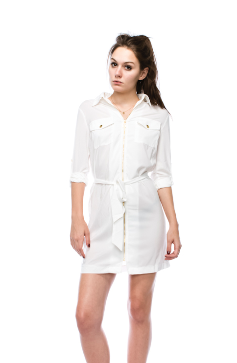 Fashion White Shirt Dress