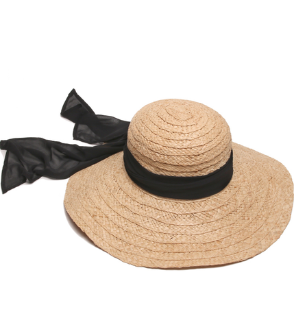 Summer Elegant Natural Black Hat