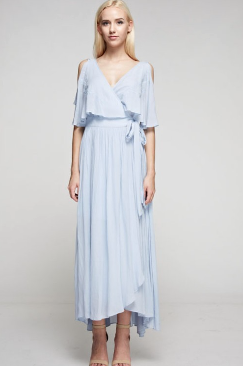 Blue Butterfly Elegant Maxi Dress