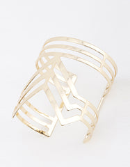 Shape Cut Gold Bracelet