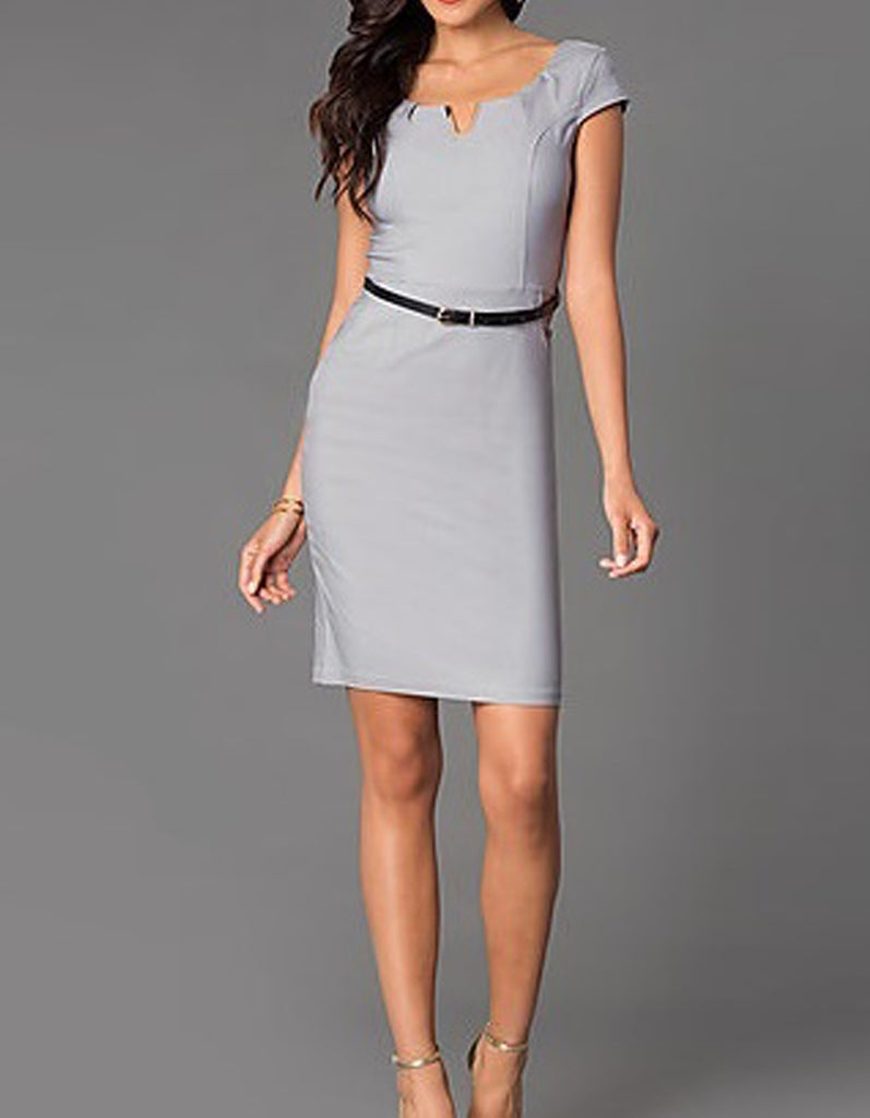 Slim Modern Elegant Grey Dress