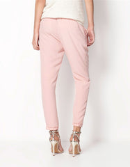 Soft Pink Casual Women Pants