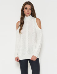 Stylish Off The Shoulder Sweater