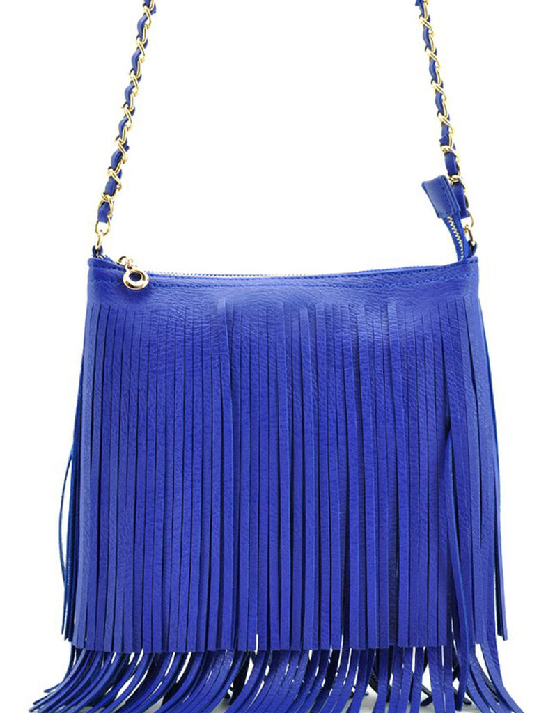 Summer Fringe Mini Handbag Royal Blue