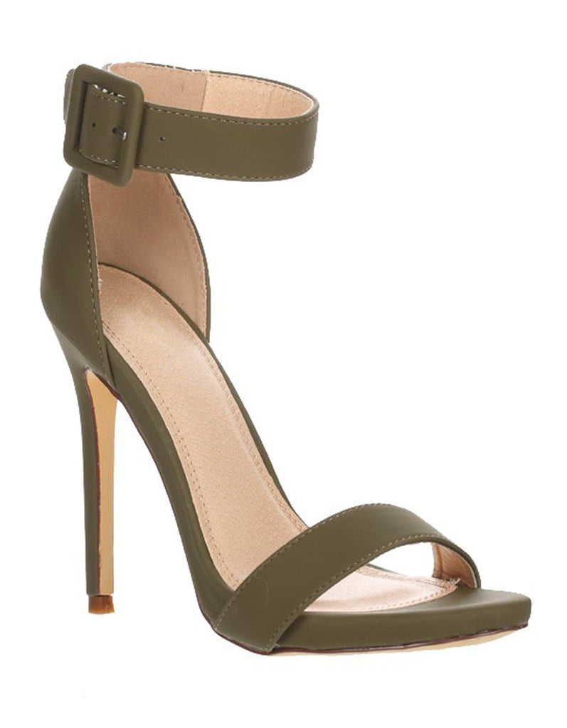 Summer Olive Sandal with Ankle Strap