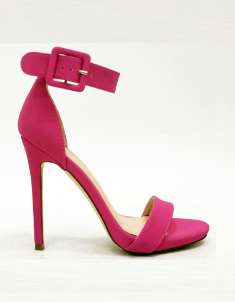 Summer Pink Sandal with Ankle Strap