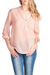 Fashion Pink Polka Dot Blouse