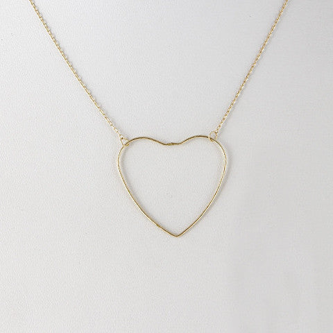 Fashion Heart Pendant Gold Necklace