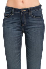 Skinny Jean with Dark Blue Denim Wash