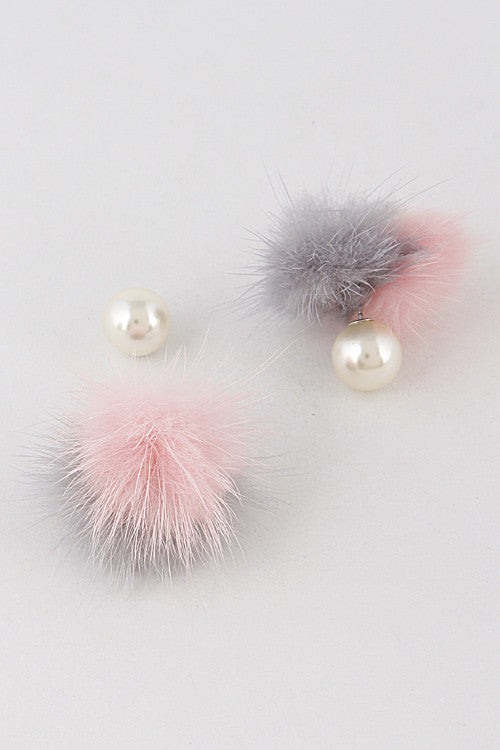 Fashion Lovely Mink Grey Pink Earring
