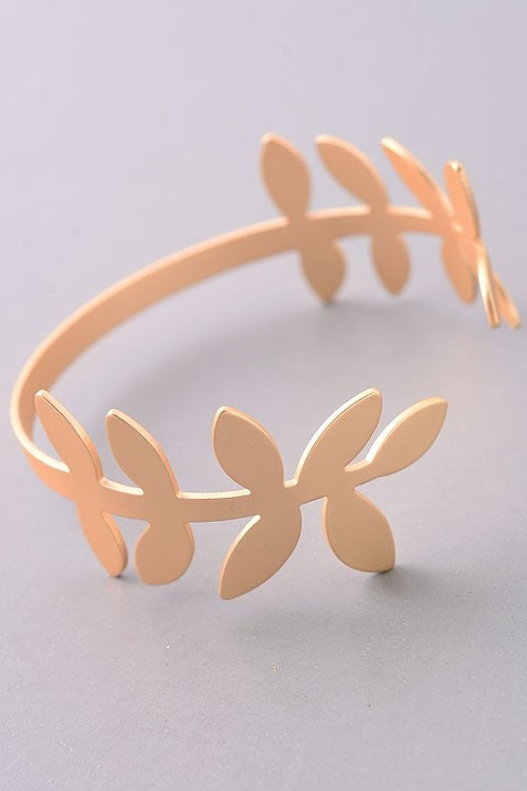 Fashion Matte Gold Leaf Bracelet