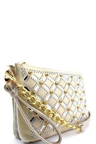 Fashion Crystal Glamour Champagne Mini Bag