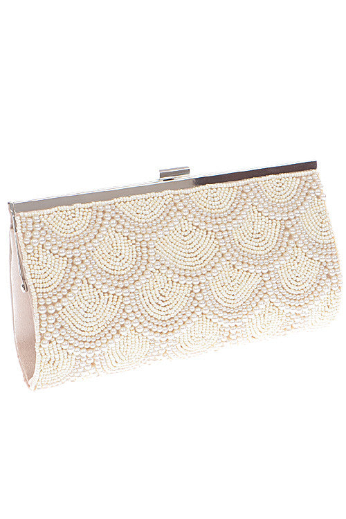 Cocktail Pearl Chandelier Luxury Ivory Clutch