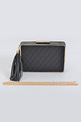 Fashion Quilted Black Clutch