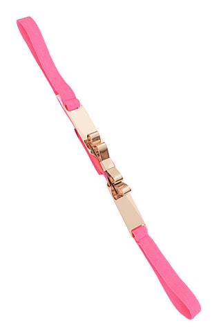 Gold Ribbon Pink Cutout Belt