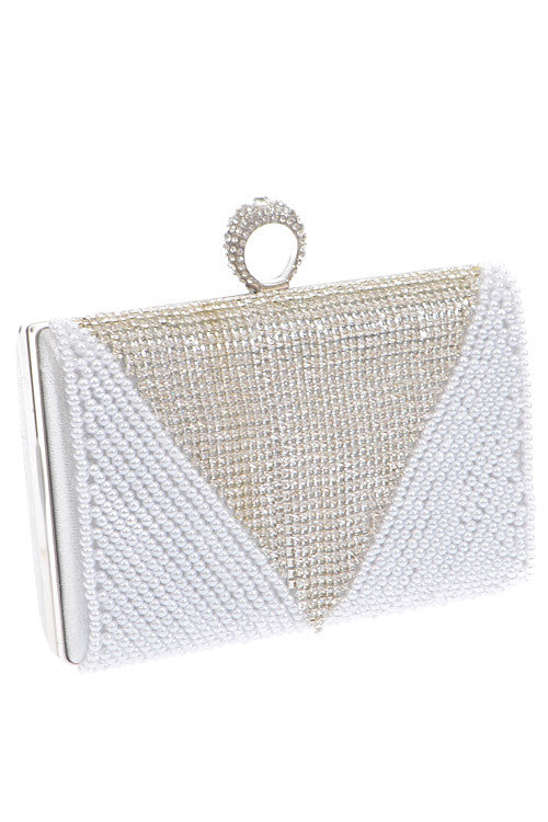 Cocktail Crystal Beaded Clutch