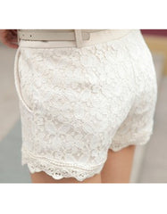 Lace Crochet Shorts