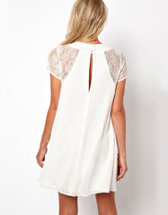 White Summer Short Sleeve Dress