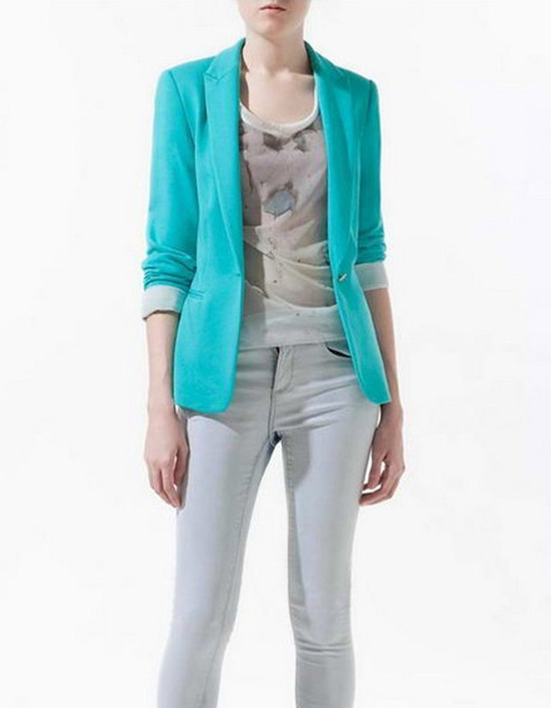 Summer Blue Slim Jacket