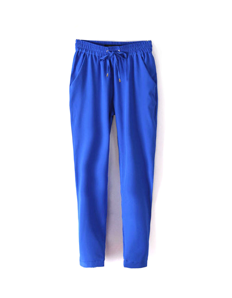 Royal Blue Casual Women Pants