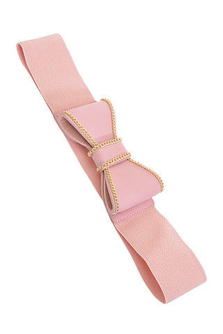 Fashion Pink Ribbon Pop Out Belt