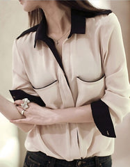 Natural Elegant Pocket Shirt