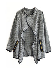 Loose Grey Cardigan Sweater