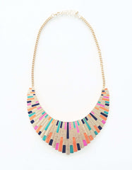 Multicolor Bib Collar Necklace