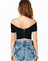 Fashion Black Crop Top