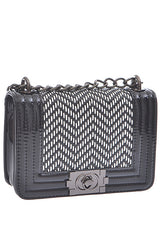 Fashion Black Contrast Handbag