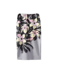 Tropical Flower Pencil Skirt